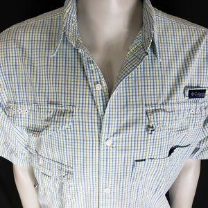 Columbia Mens Check Vented Button Shirt XL